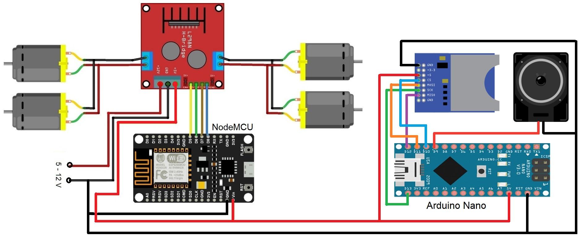 Car nodemcu l298n arduino nano jaljlq3pck