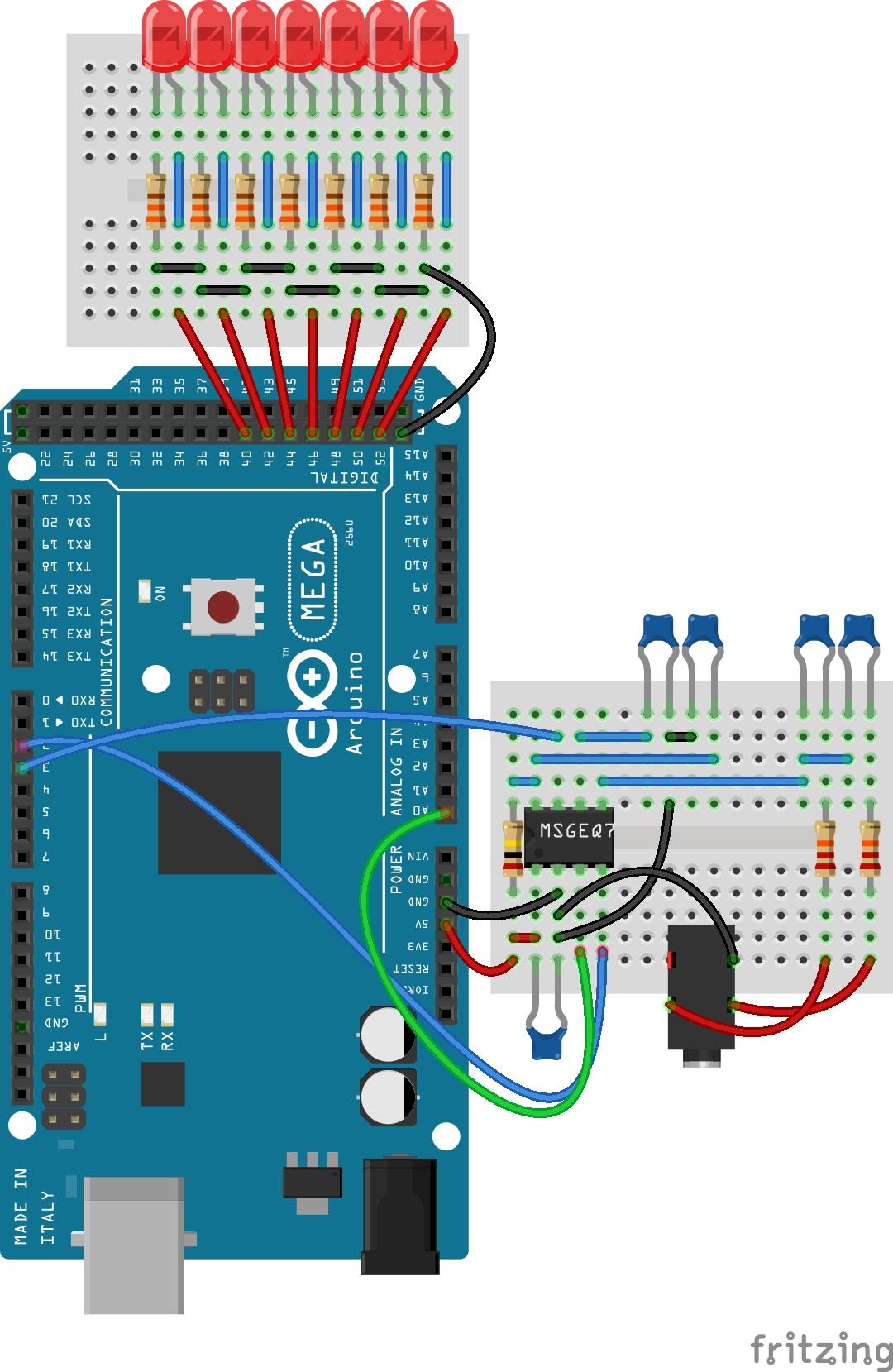 Spectrum analyzer with digital leds zheqvviefz
