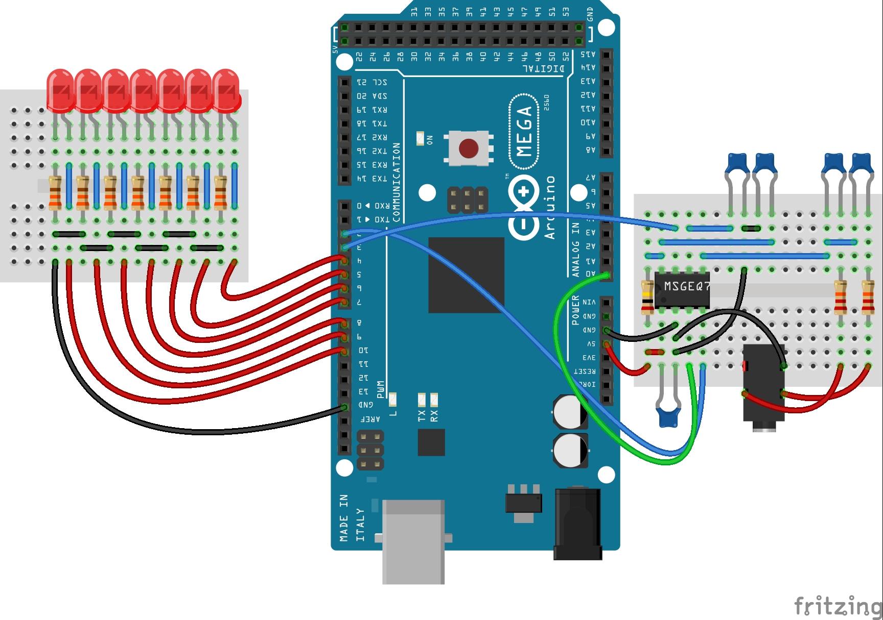 Spectrum analyzer with pwm leds oqqxfjxgvi