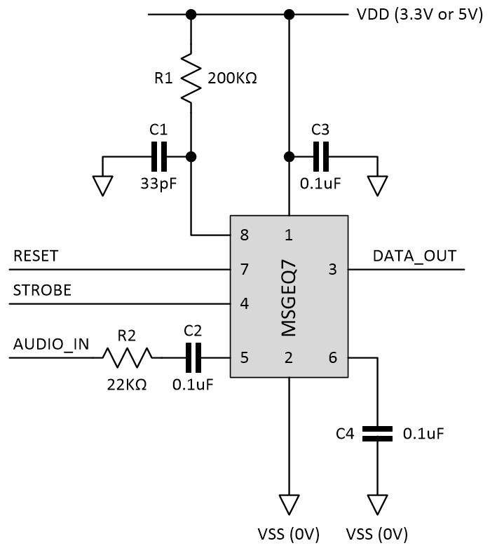 Msgeq7 schematic diagram l4egbipekk