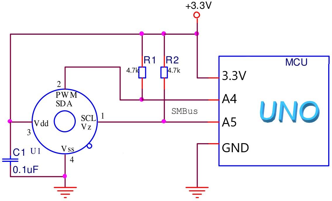 Mlx90615 schematic 1snxpmrzna