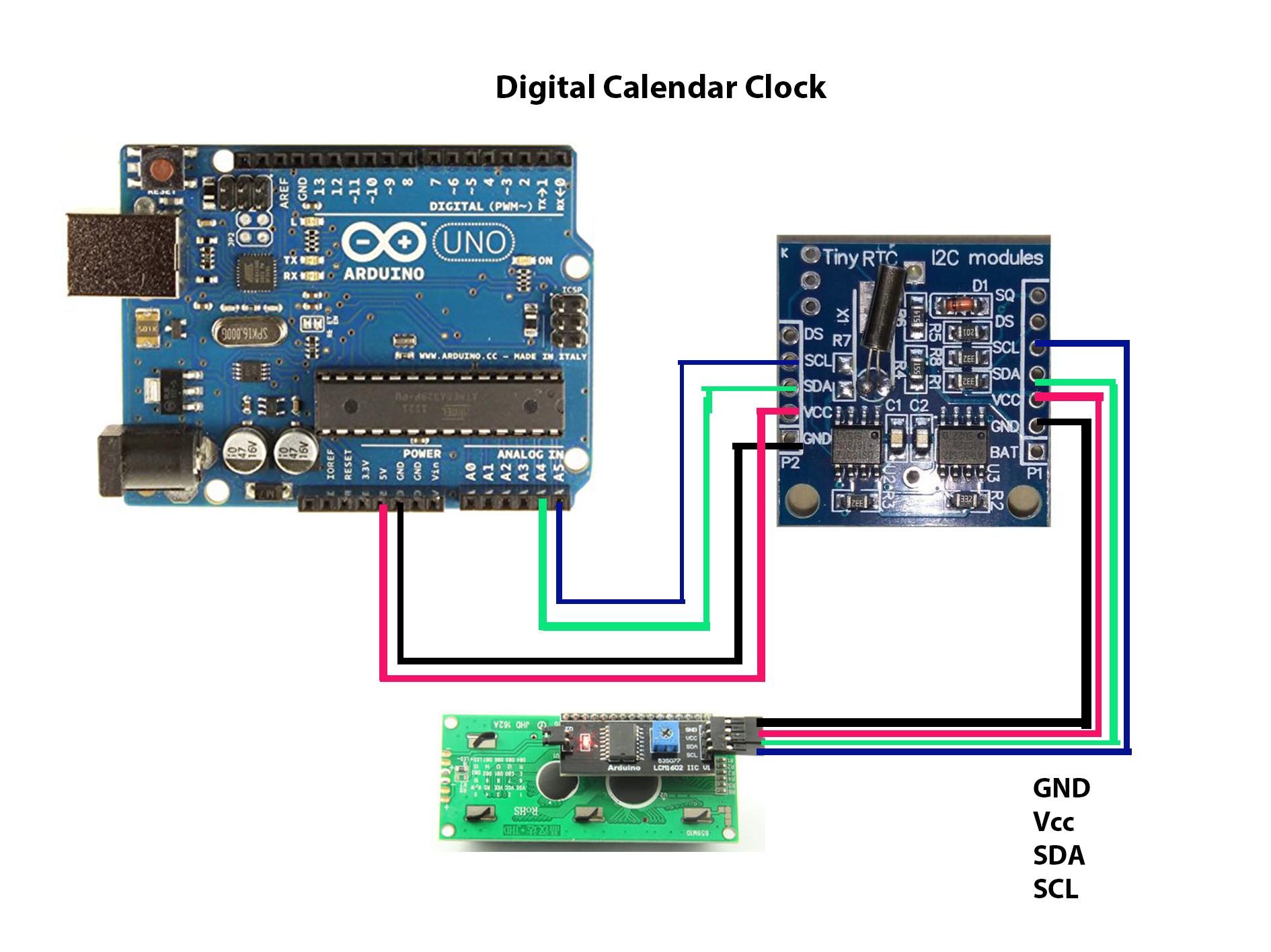 Digital calendar clock  do5gig9a96