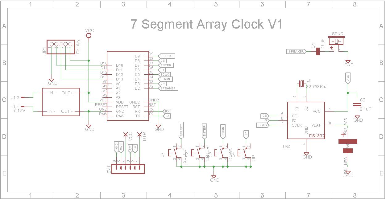 7 segment array clock   mpu v1 e0rcquqj0p