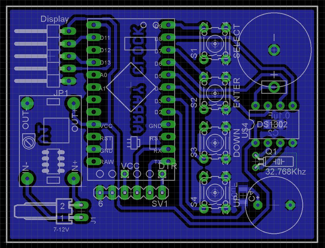 7 segment array clock   mpu v1 evszhxqwez