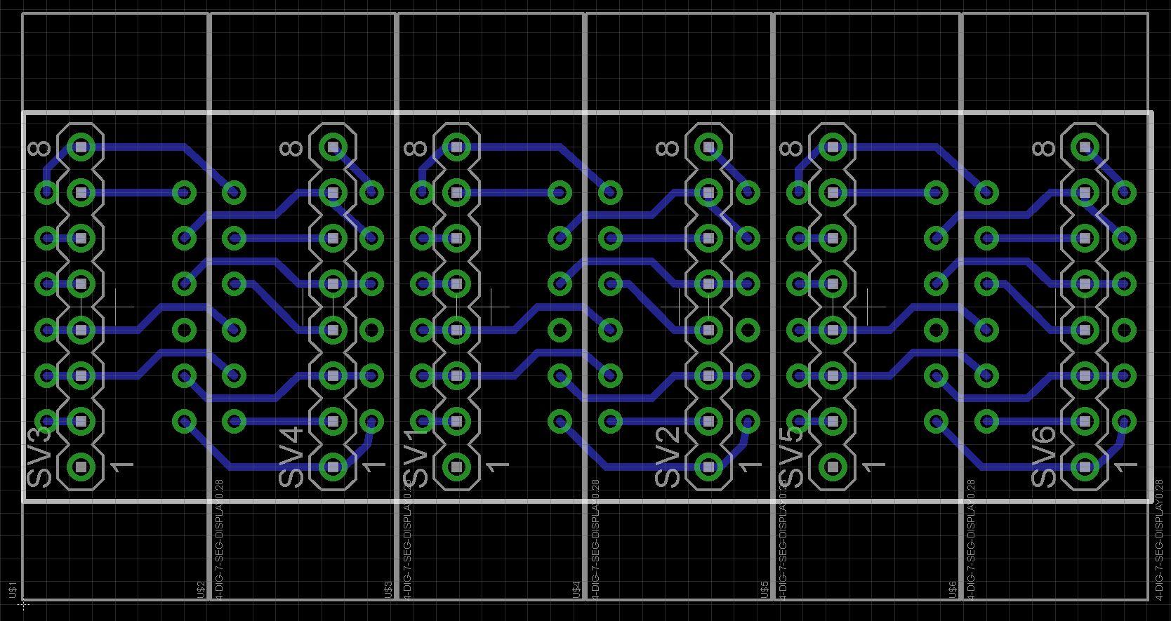 7 segment array clock   matrix column v2 yc8jttz7bq