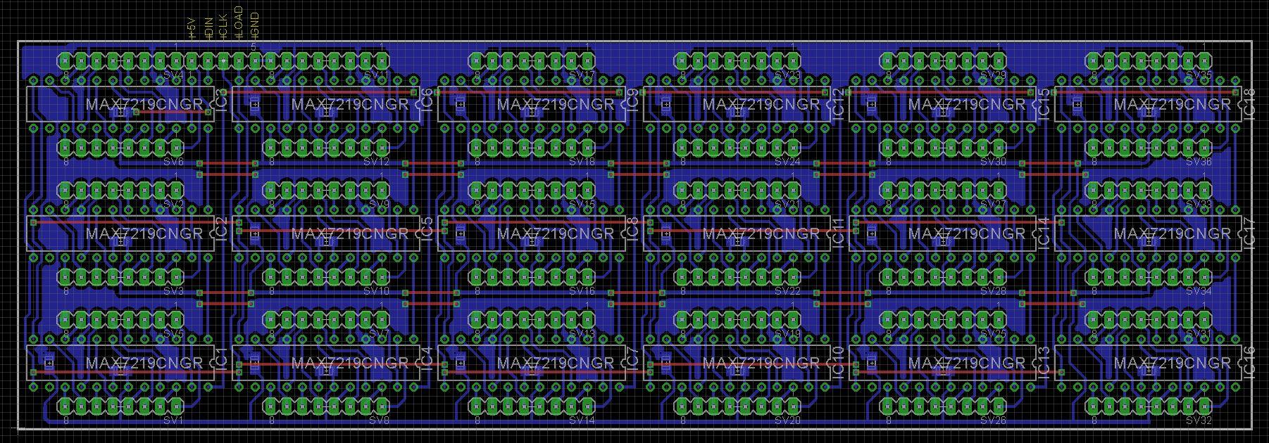 7 segment array clock   base v2 fxvxxou8ca