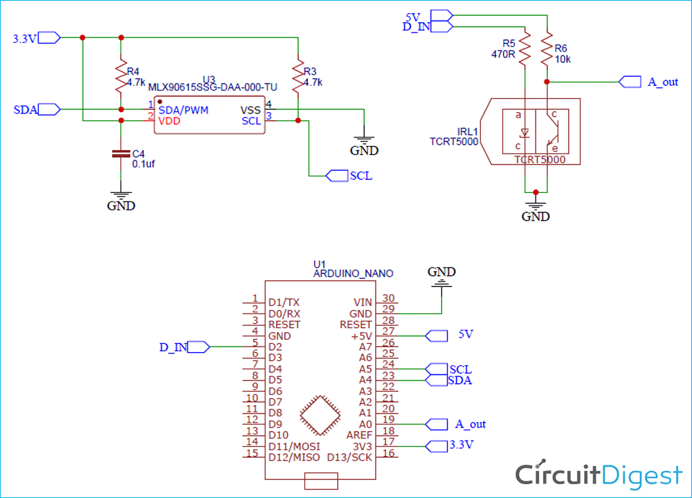 Contactless body thermometer schematic dady9o310m