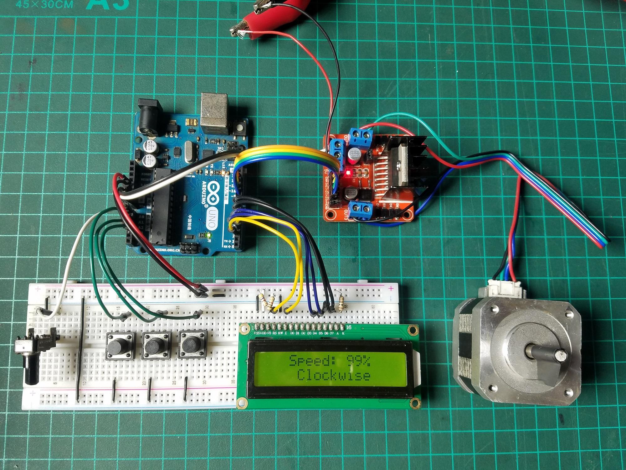 How to make a stepper motor speed controller using arduino m2migsimov