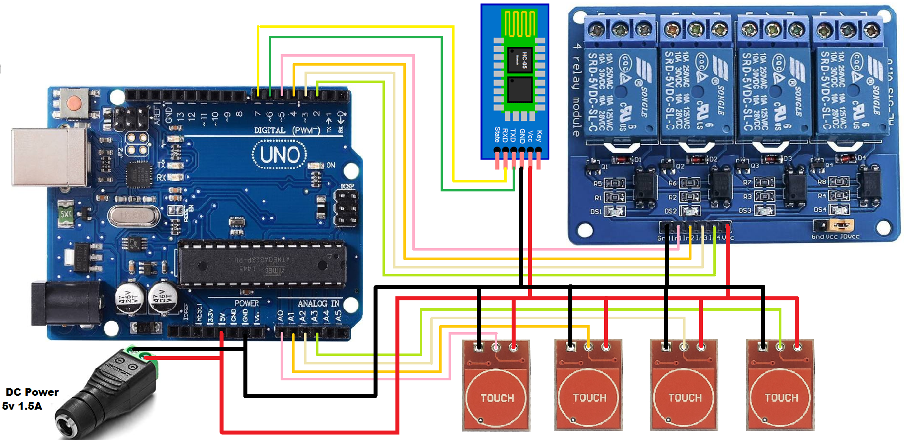 How to make touch and android application controlled switch board using the eeprom for status saved njvmxoyuu3