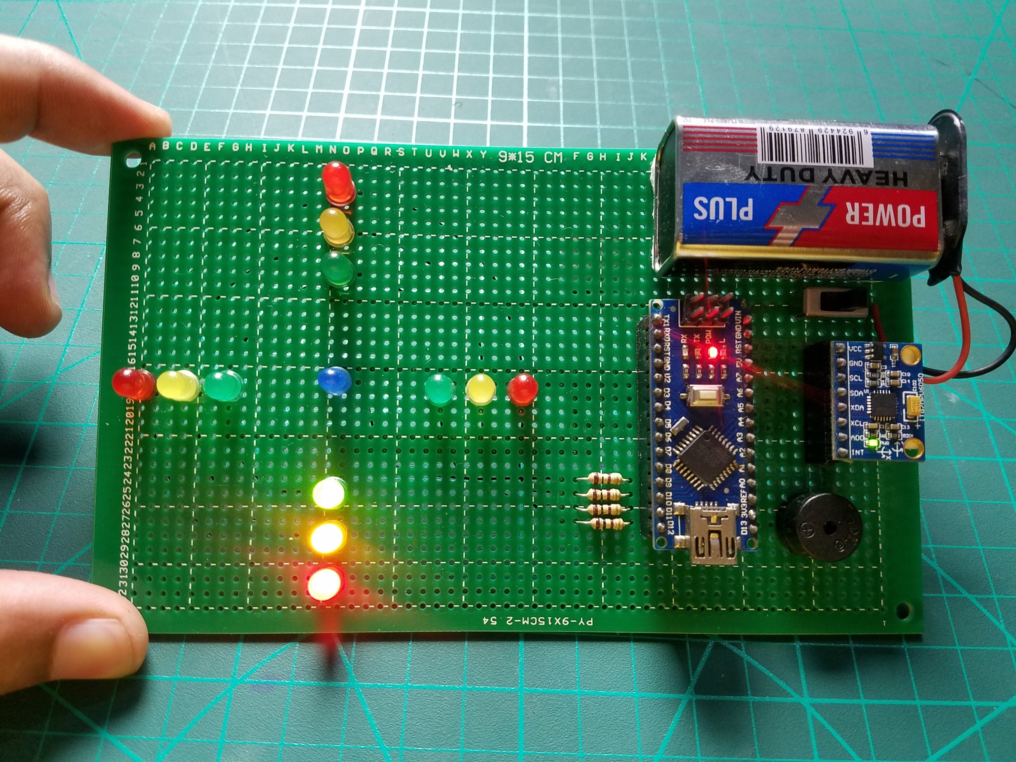 How to make a led spirit level with mpu6050 lfszwen0jq
