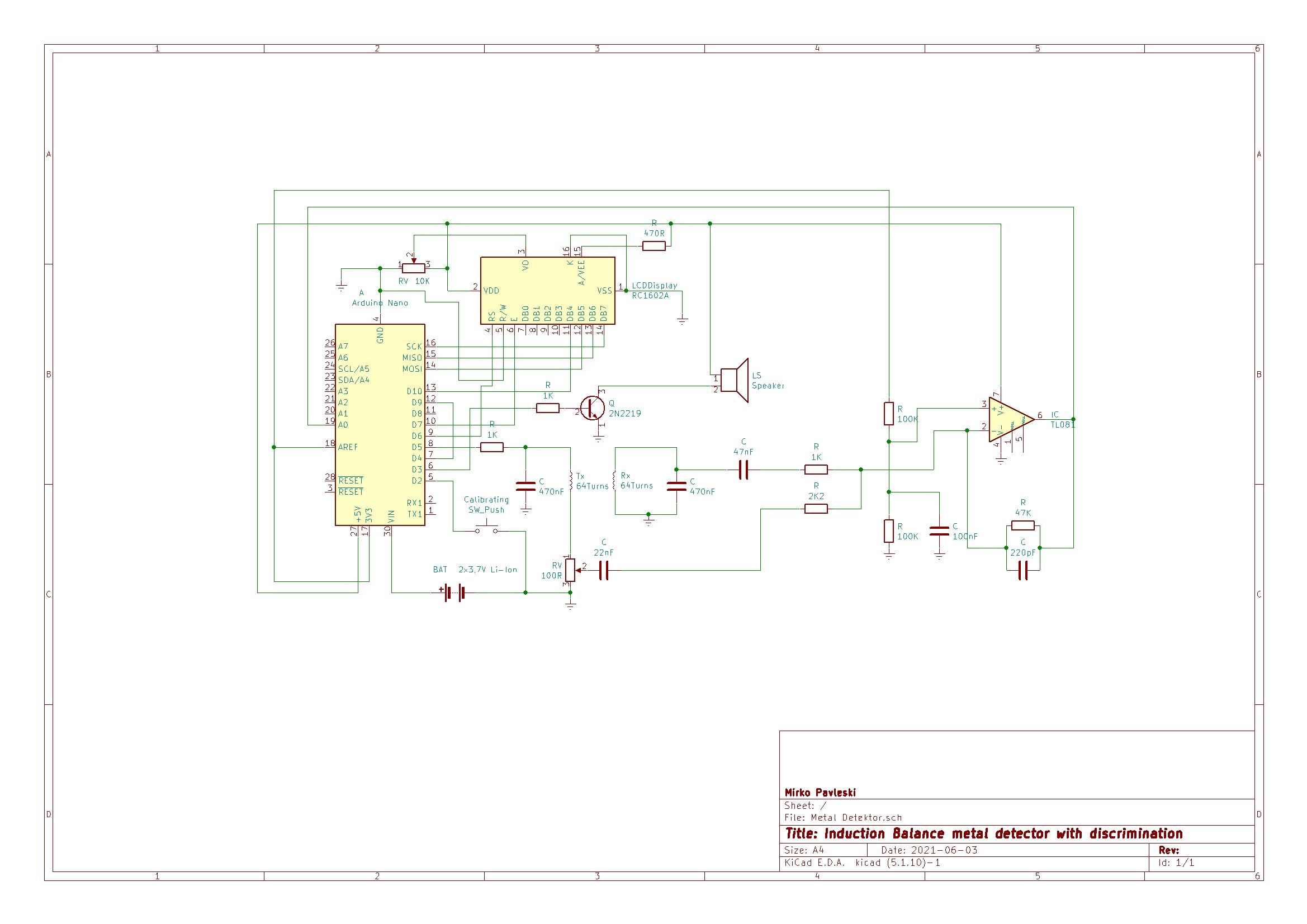 Arduino metal detector with discrimination 0udce2arci