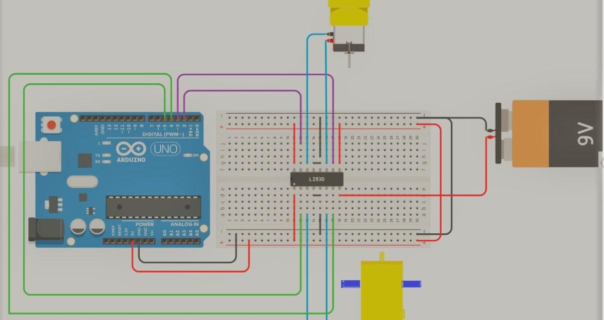 Interfacing of l293d with arduino yfdcjbyma0