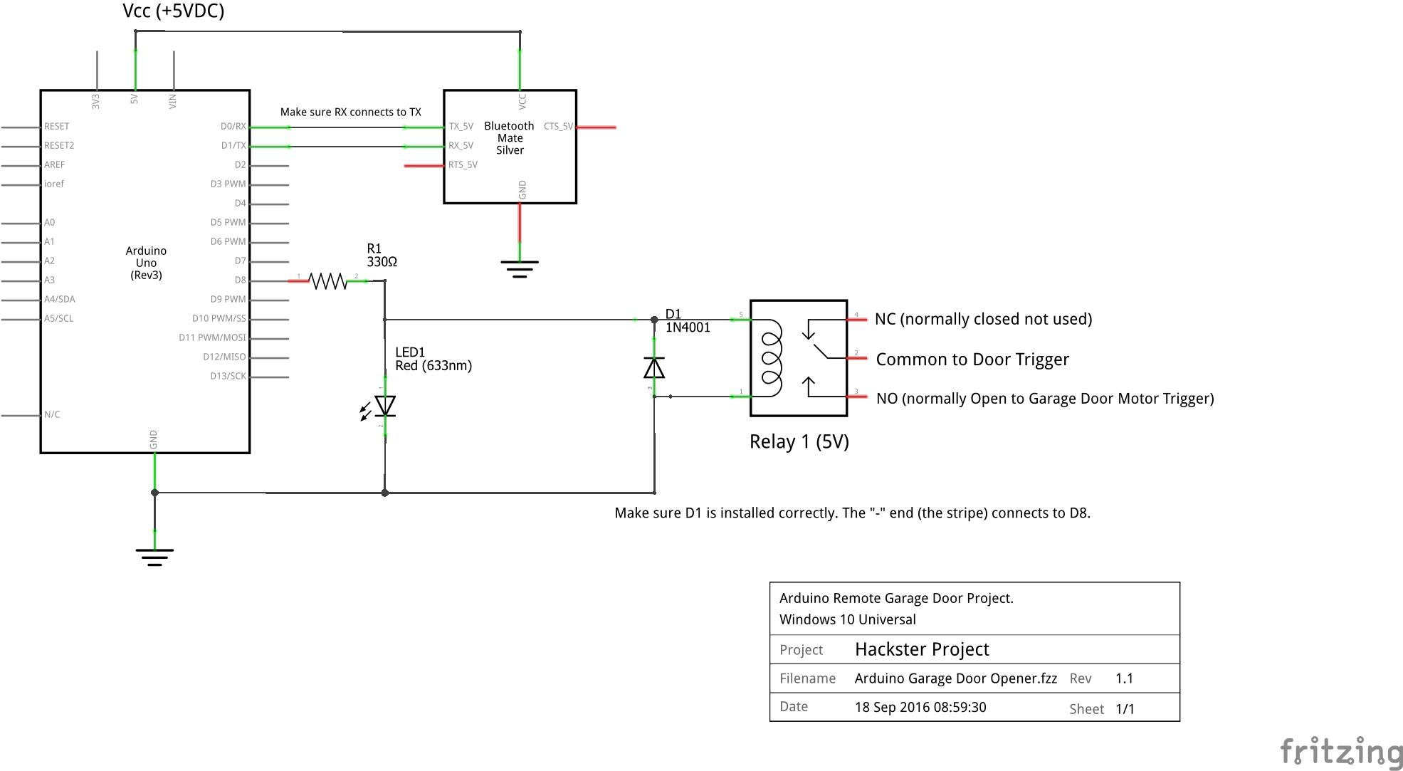Windows 10 Universal Bluetooth Garage Door Opener Arduino Project Hub