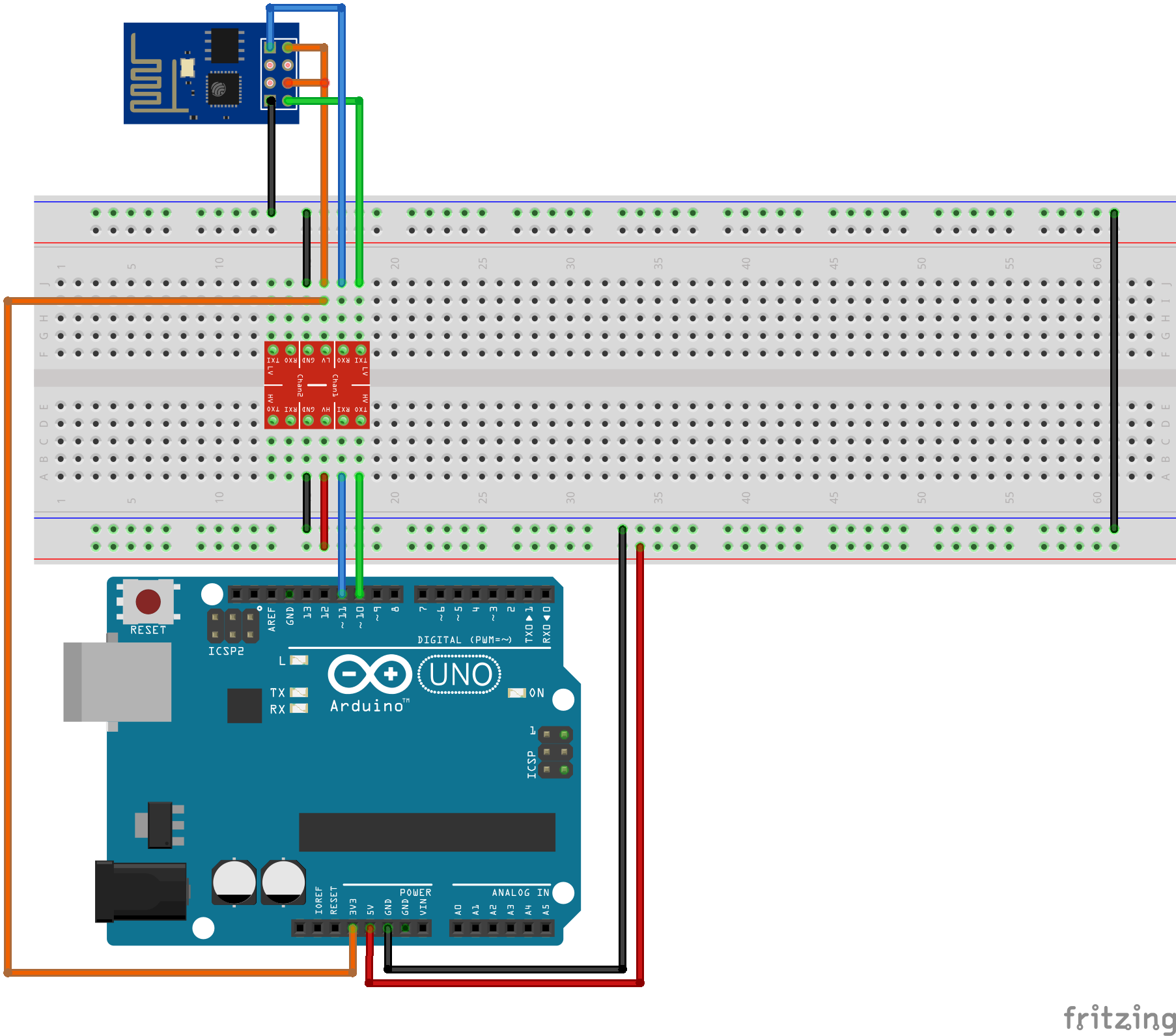 Simple Arduino Uno - Esp 8266 Integration