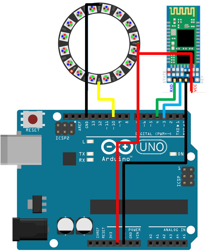 Notiduino circuit