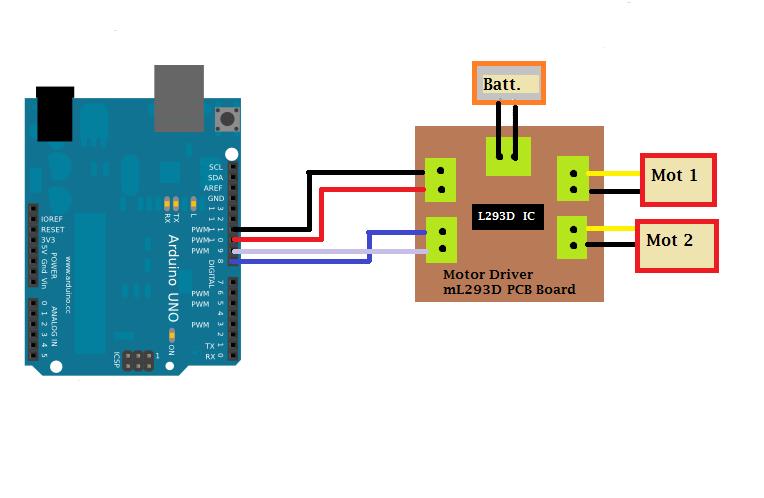 Arduino to mortor driver gasudto9ql