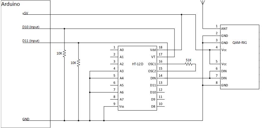 Arduino receive circuit 1qinwwqndu