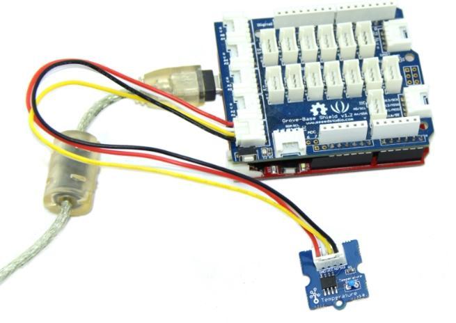 Tempreture sensor connector om6exhmpoe