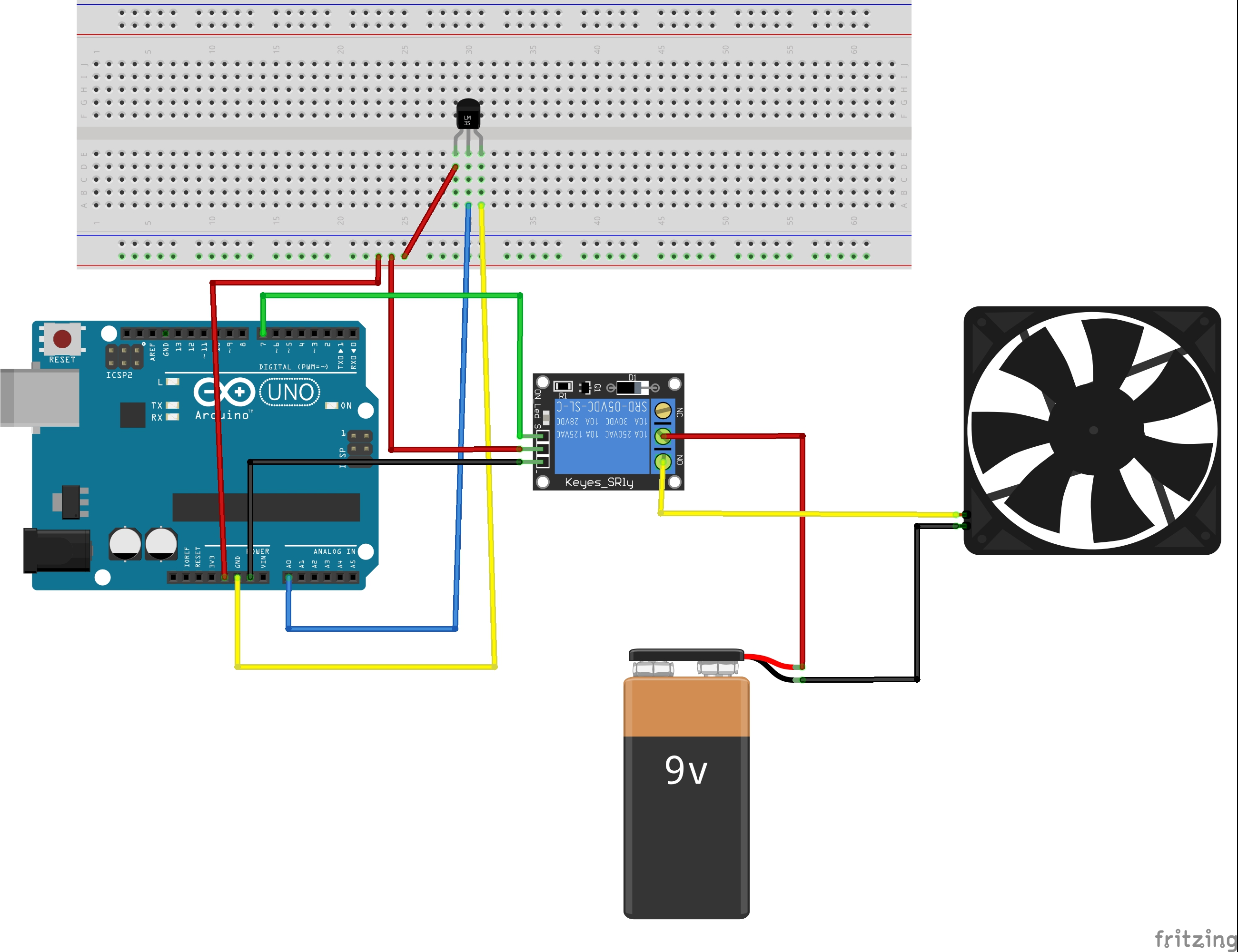 Simple Auto Fan - Arduino Project Hub on car fan wiring diagram, car fan shroud wiring, car alternator wiring, car fan relay diagram, car voltage regulator wiring,