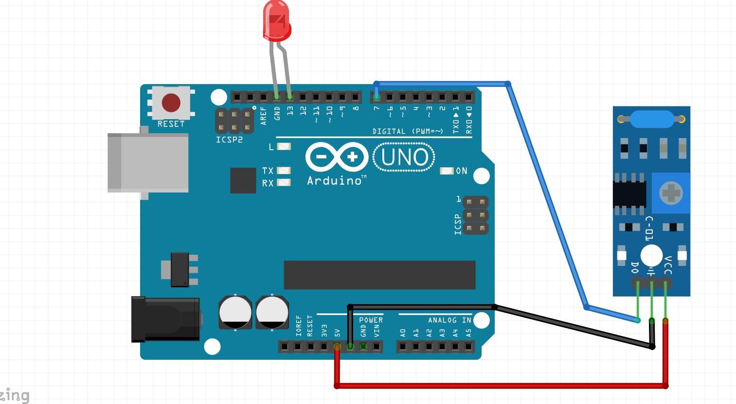 Vibration sensor module mgazacbgvc