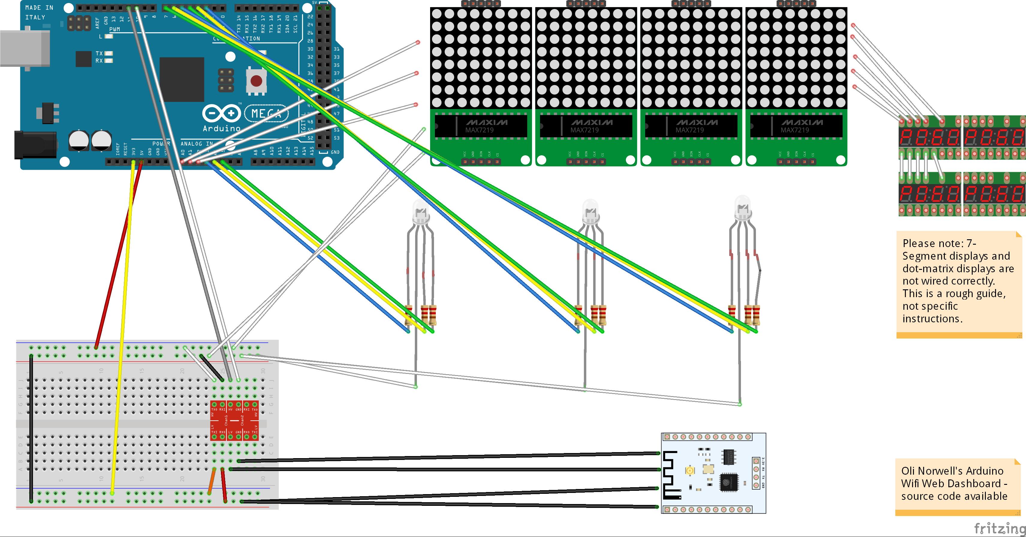 [DIAGRAM_0HG]  Arduino Live WiFi Web Scoreboard - Arduino Project Hub | Scoreboard Wiring Diagrams |  | Arduino Create
