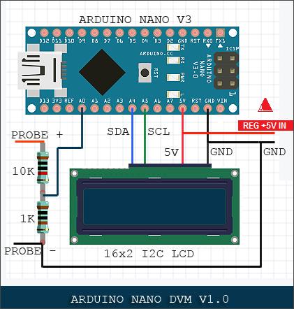 Nano digital voltmeter   circuit update k9rpainnwu