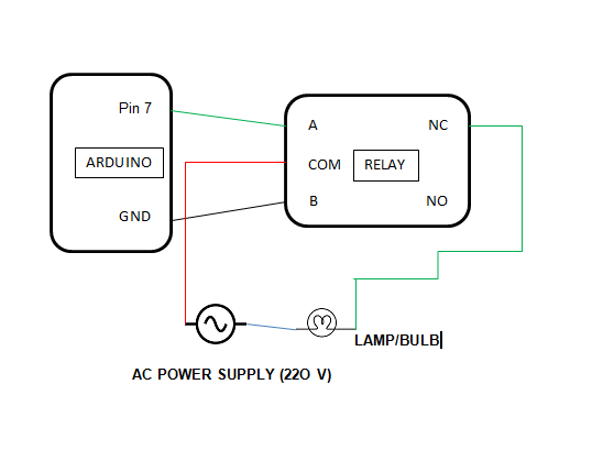 Ciruit diagram of lamp with realy c30mn2nbas
