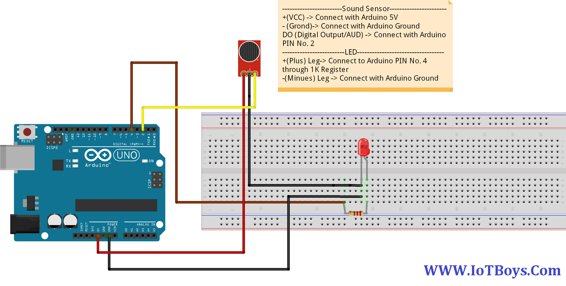 Control Led By Clap Using Arduino And Sound Sensor Arduino Project Hub