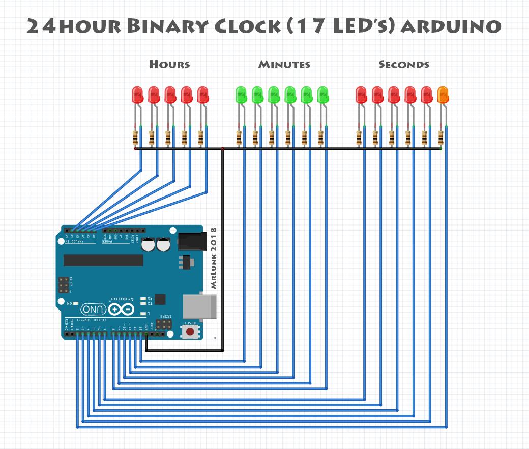24h binary clock with seconds arduino 8izwvkeez6