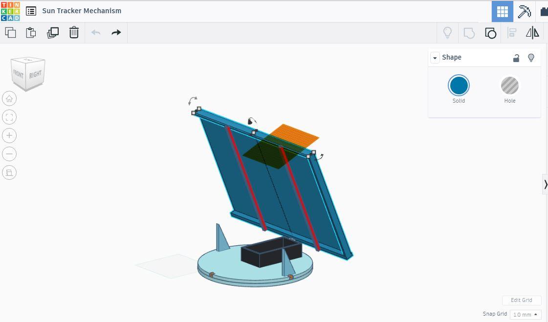 Sun tracker mechanism 3x9h52lrah