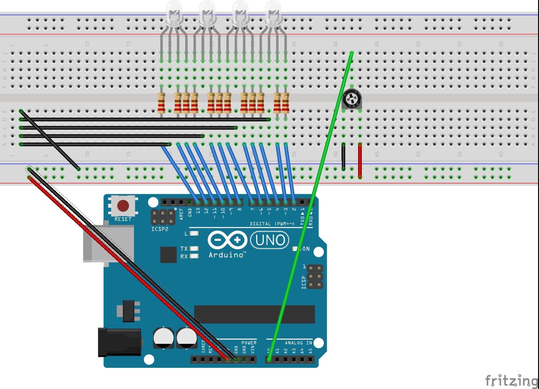4x rgb led running light bb hb1in0lhd0