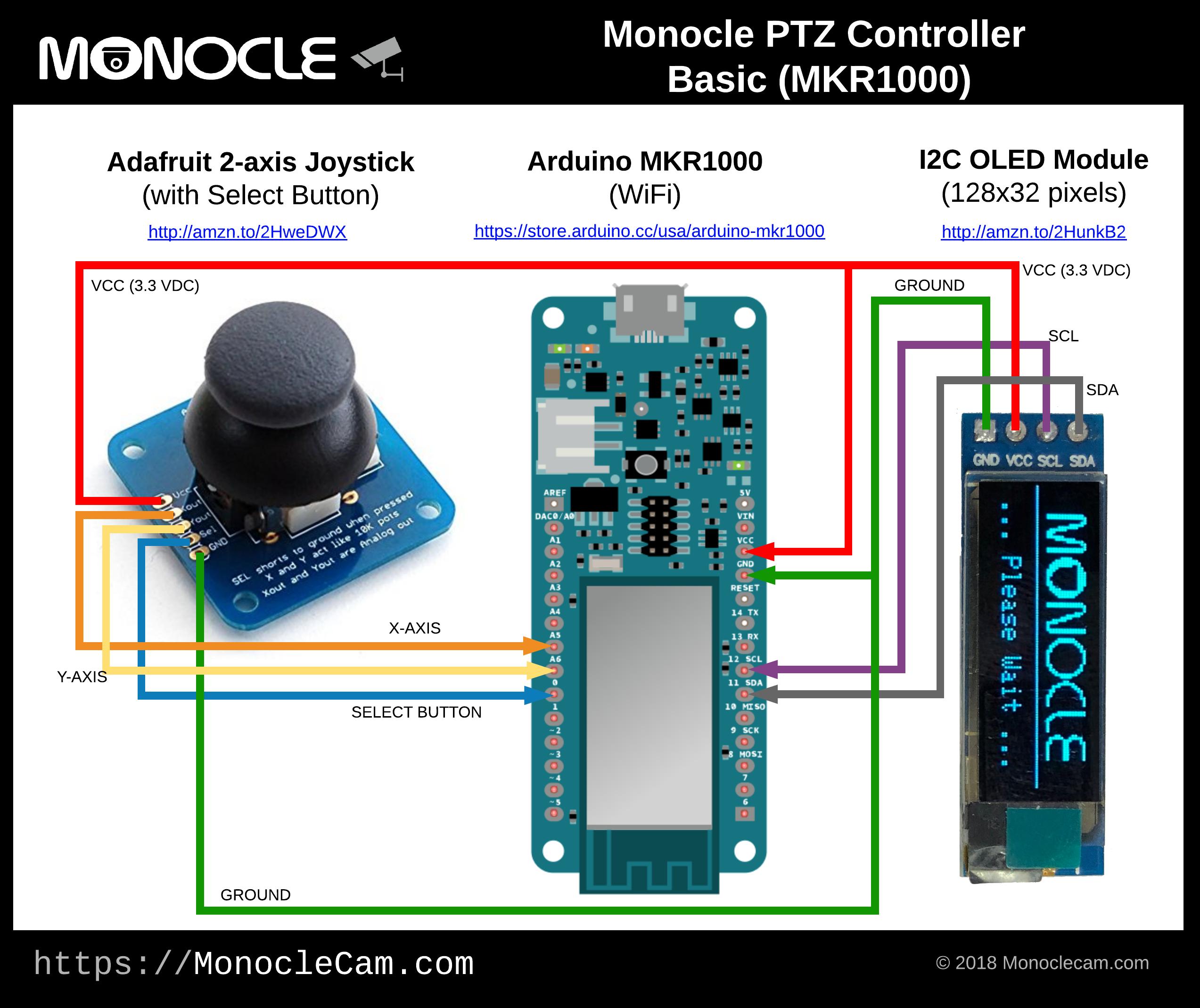 Monocle ptzcontroller basic mkr1000 2v2ornzssn