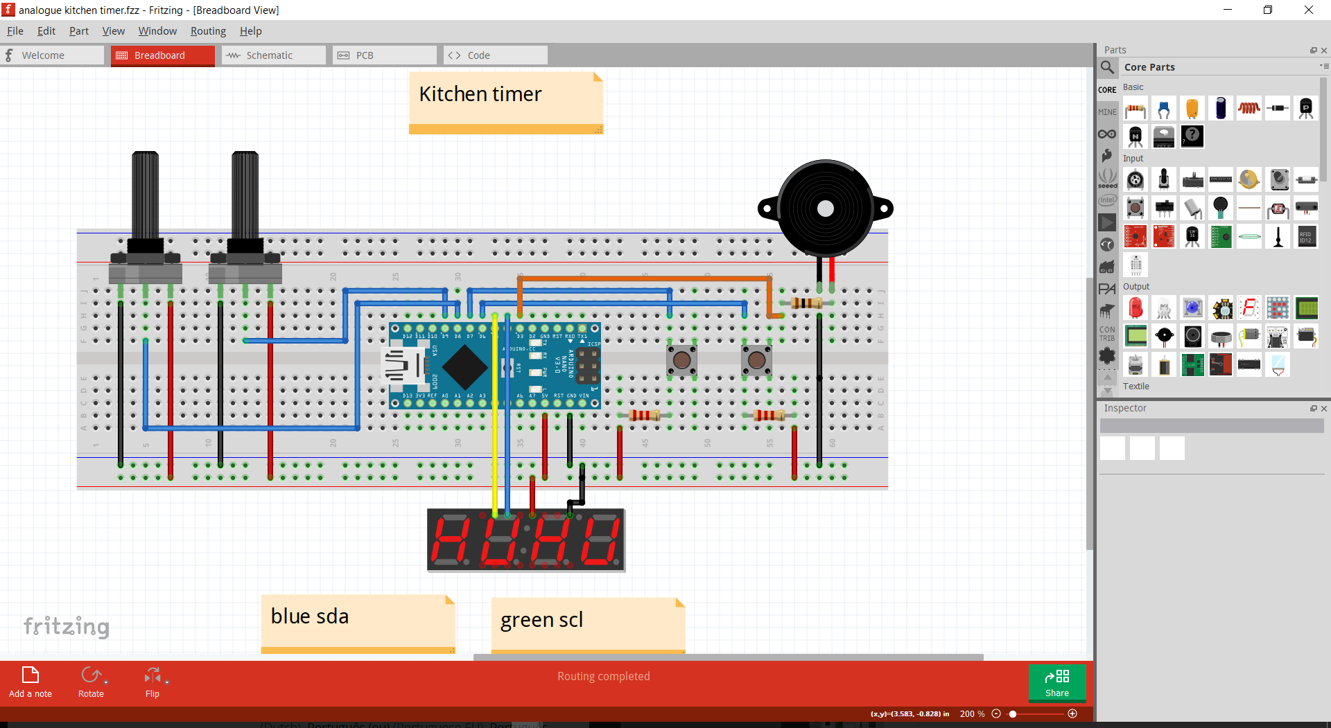 Schematic from fritzing 7uidysqfsk