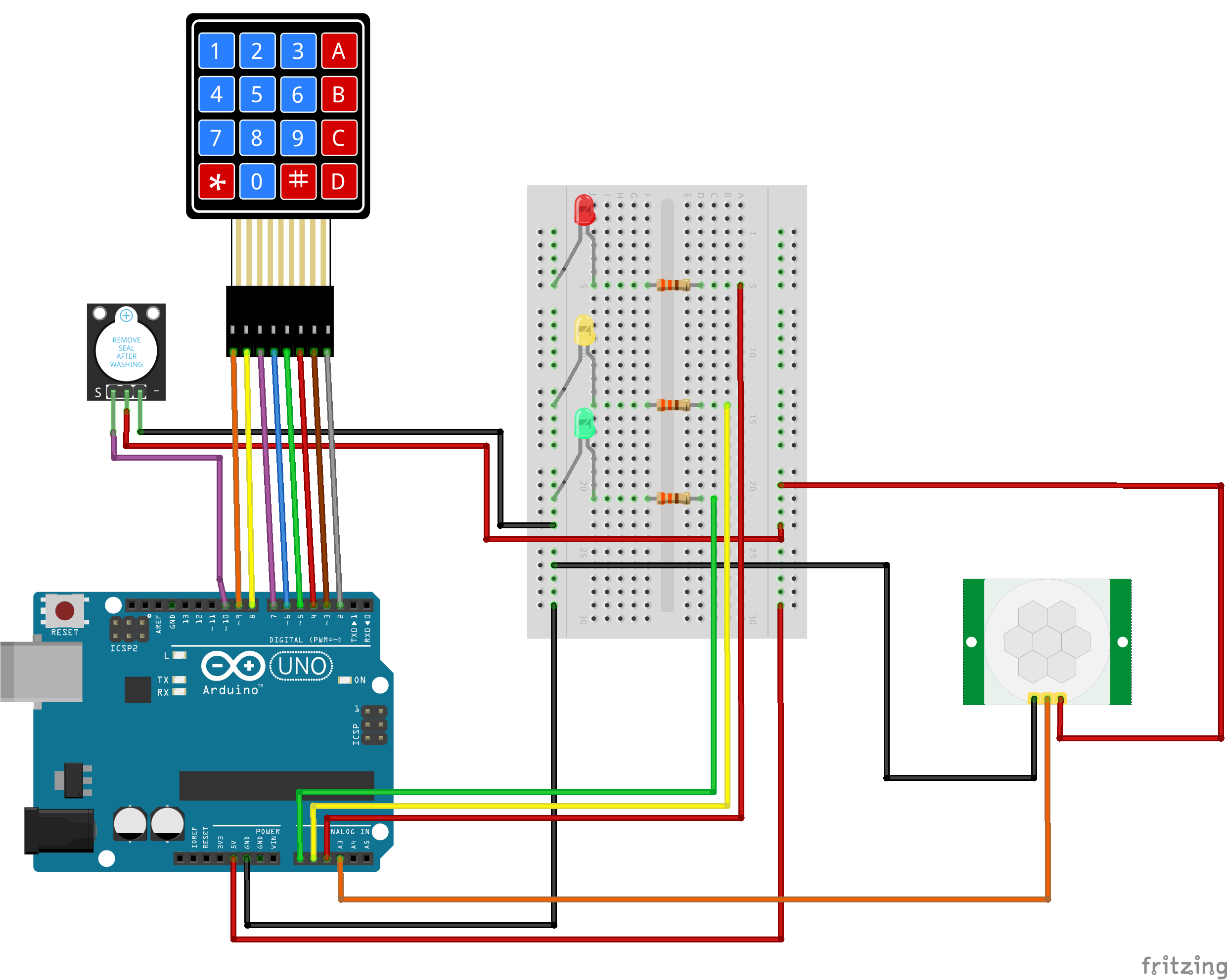 Motion Sensing Alarm With Keypad Amp Password Arduino Project Hub