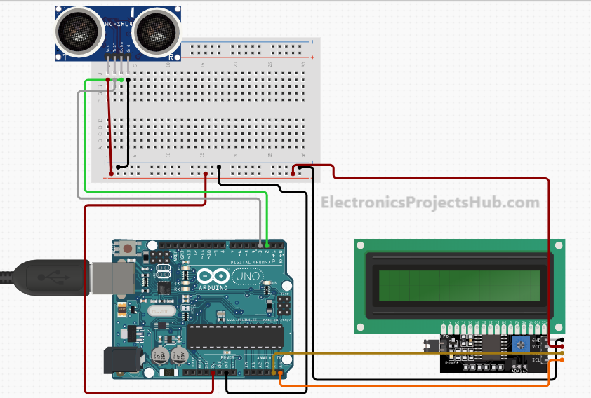 Distance Measurement Using Arduino Ultrasonic Sensor