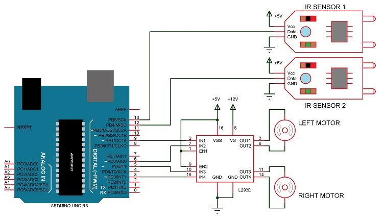 Arduino line follower robot circuit mzjtjhmfry iedvta85ea