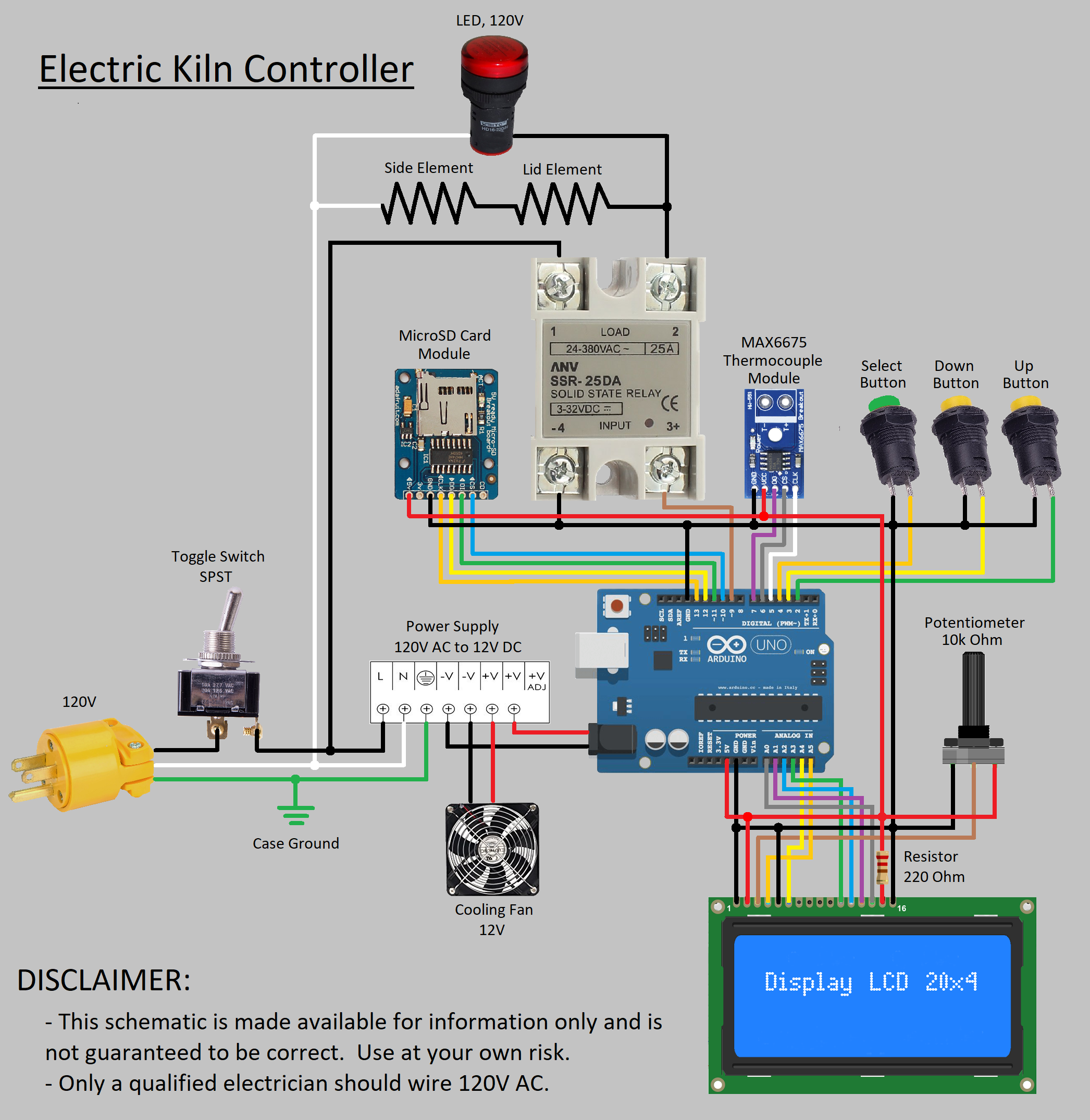 [SCHEMATICS_4NL]  Electric Kiln Controller - Arduino Project Hub | Wiring Diagram For Electric Kiln |  | Arduino Create