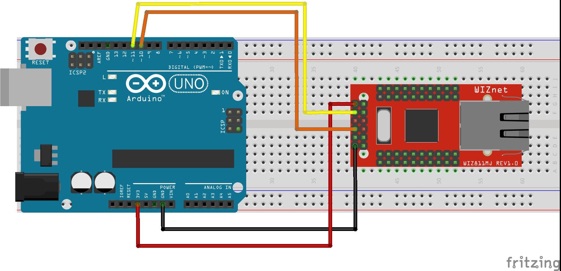 Arduino wiznet twj9qv14jb