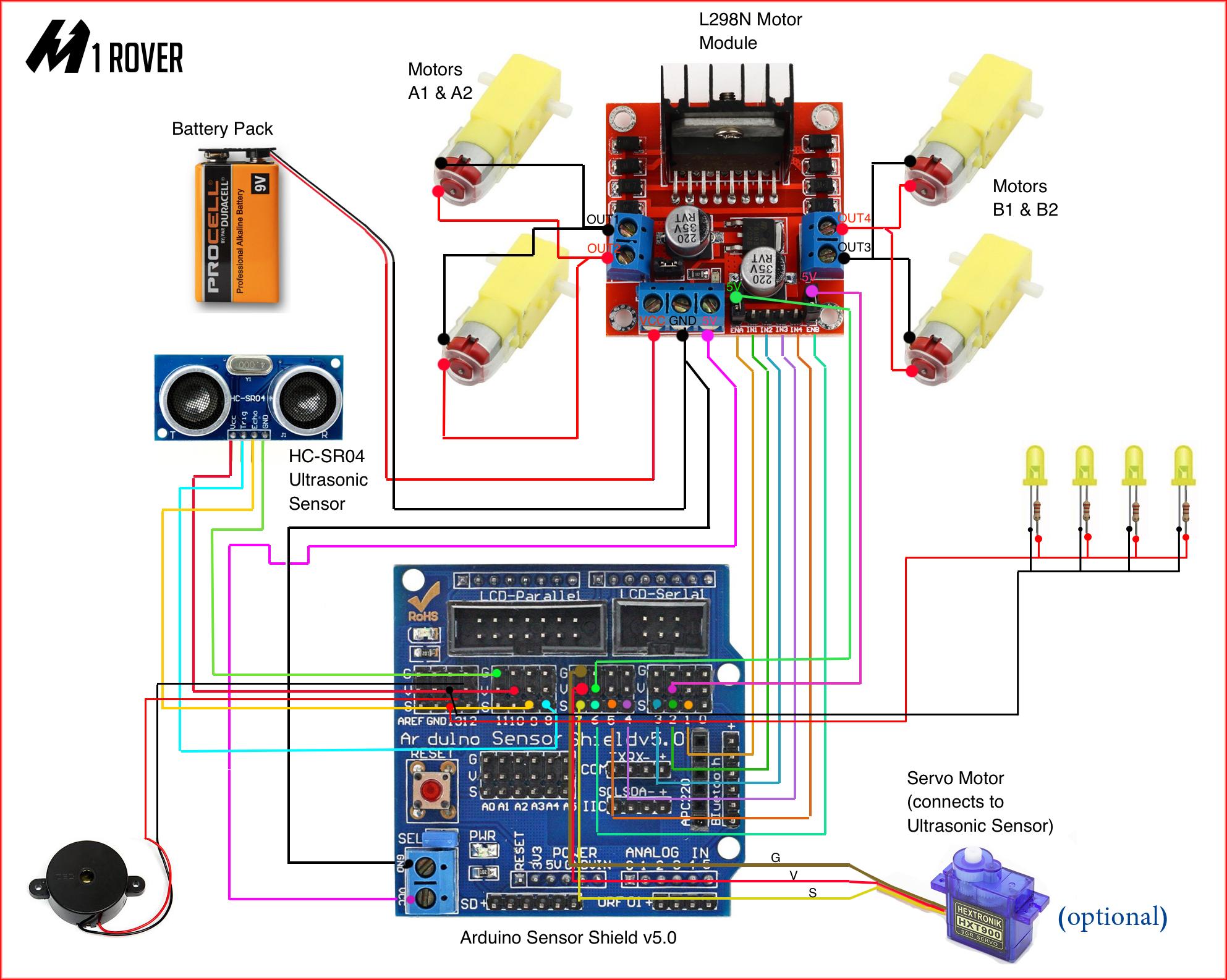 Arduino uno: sensor shield powering multiple servos arduino.