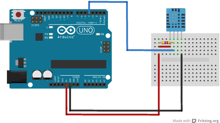 Arduino and dht11 bb1 3vsonloxcb