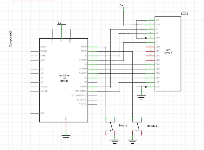 Simplest clock ever schematics xjhbf9q6ei
