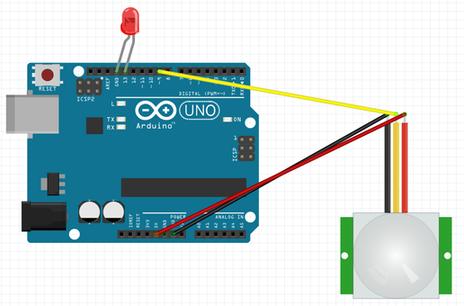 project 004 arduino pir motion sensor project  arduino