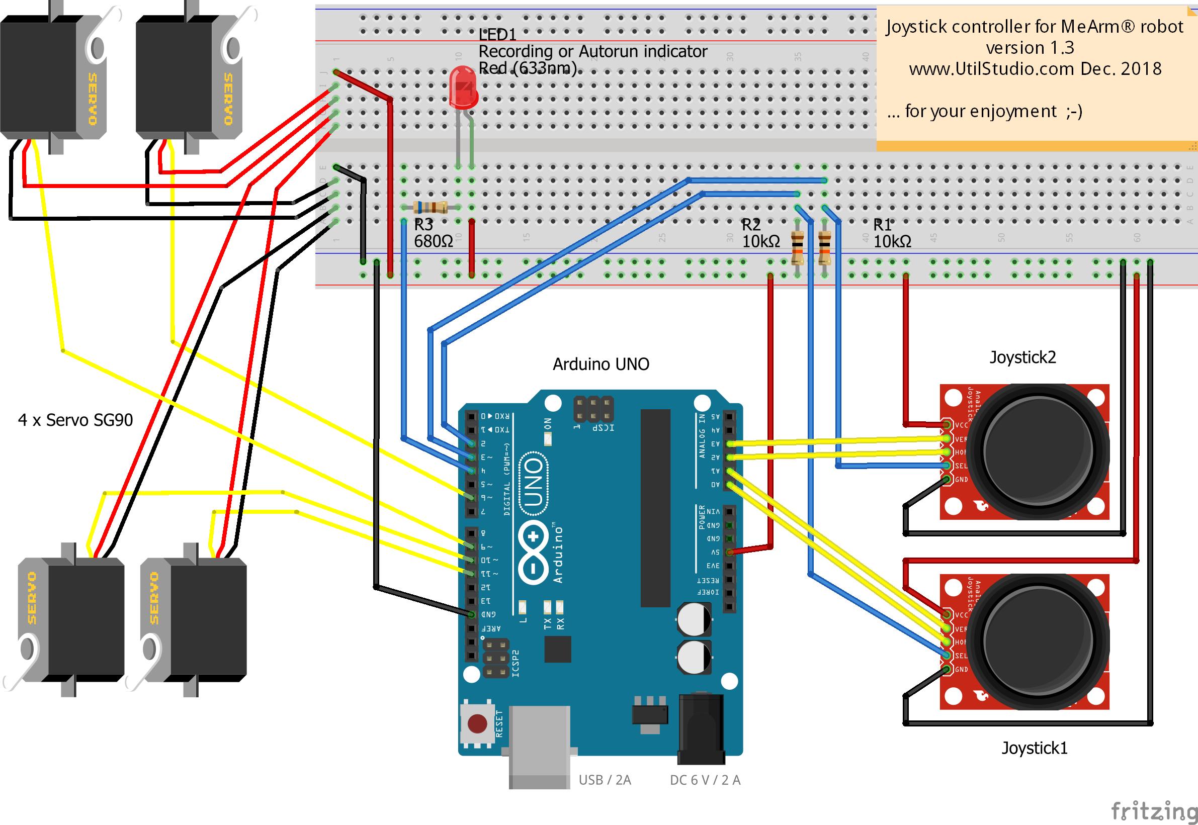 Arduino mearm joystick controller rqnjsdf0qy