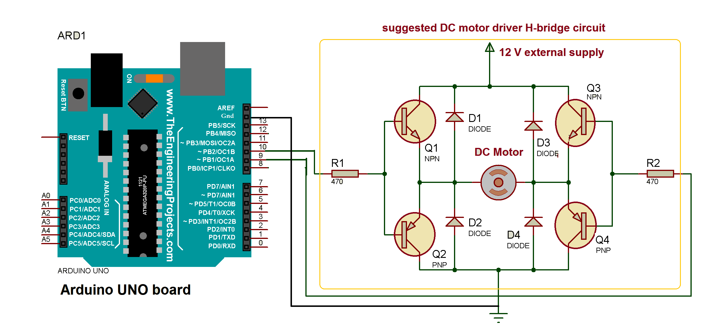 Dc Motor Controlling Library Arduino Project Hub