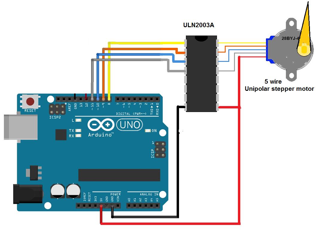 Uni polar stepper motor with arduino c9rddtokab