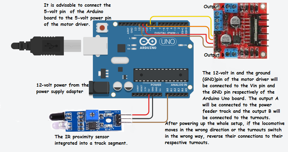 Arduino model train auto siding schematic igde4e1o7v