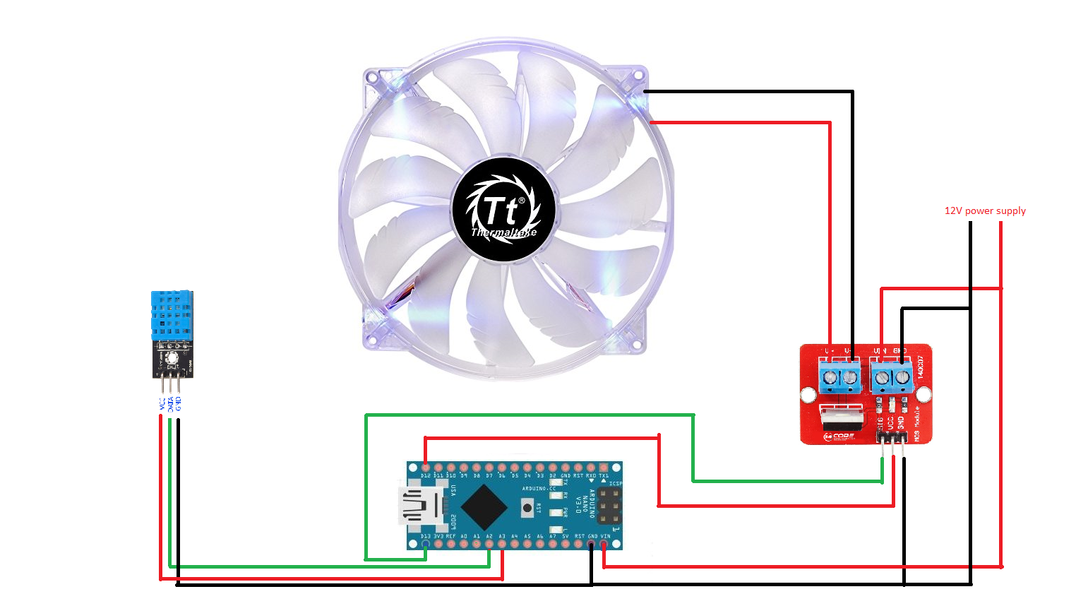 Humidity Sensor-controlled Bathroom Exhaust Fan