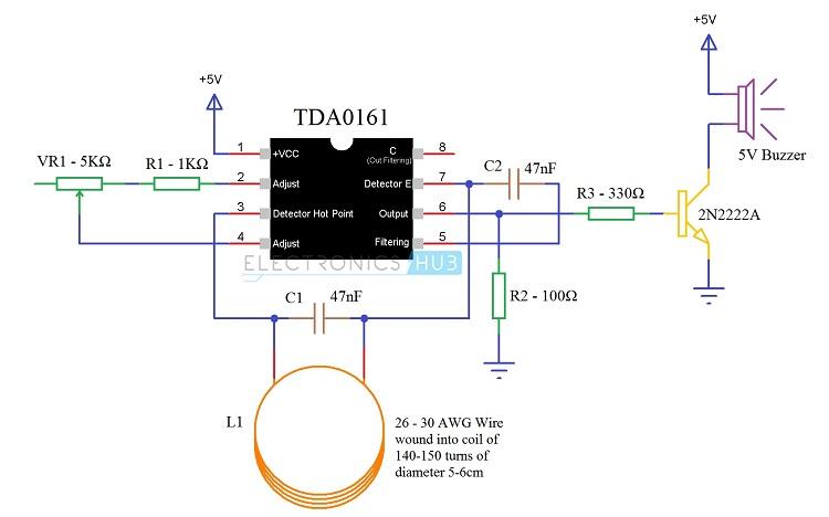 Metal detector circuit diagram dfvp9yb5oj