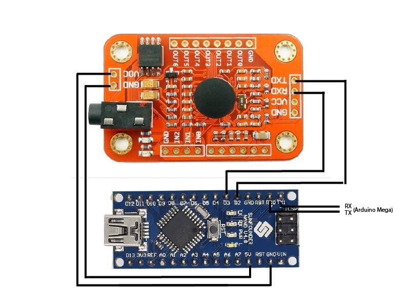 Arduino nano and v3 m27vduvj2p