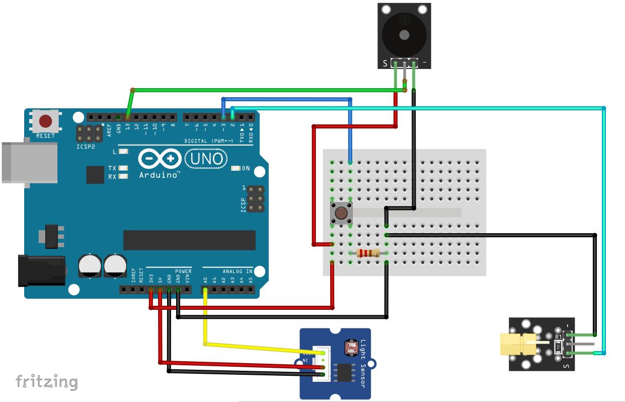 Laser Tripwire Alarm Arduino Arduino Project Hub
